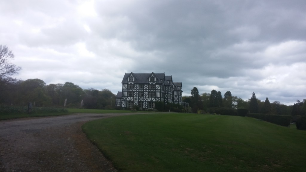 Gregynog Halls from a distance - or the first shot of a horror movie