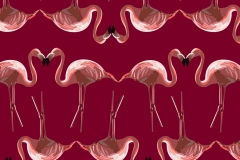 Flamingos mirrored design