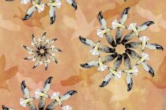 Seagull flowers design