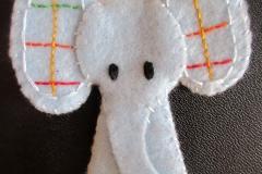 Elephant finger puppet