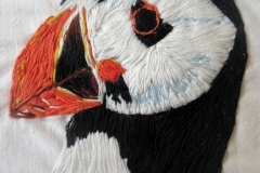 Puffin embroidery