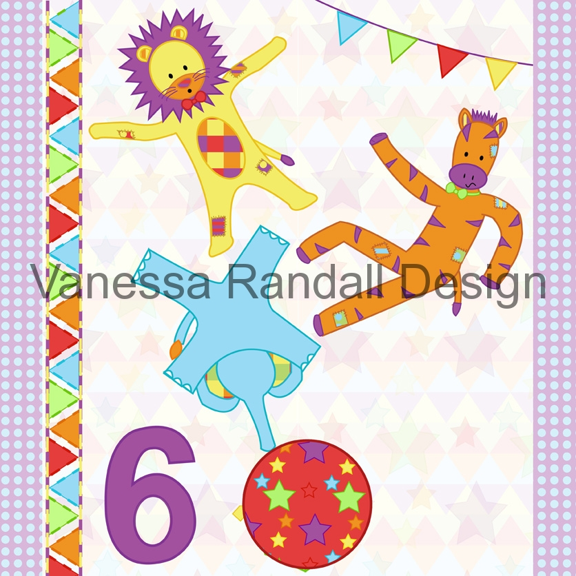 Acrobats card design