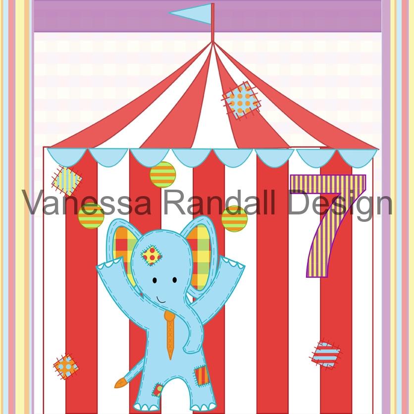 Elephant card design
