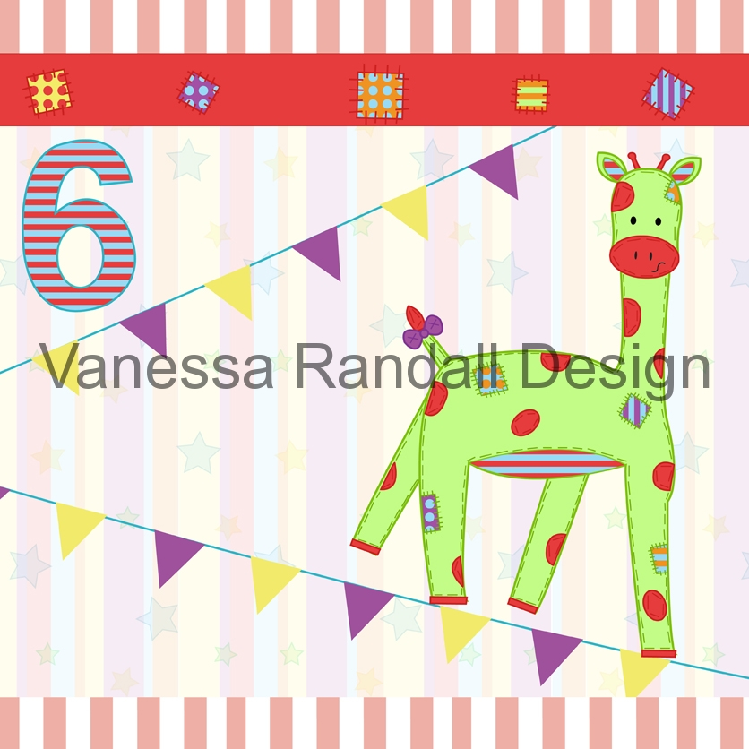 Giraffe card design