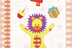 Lion card design