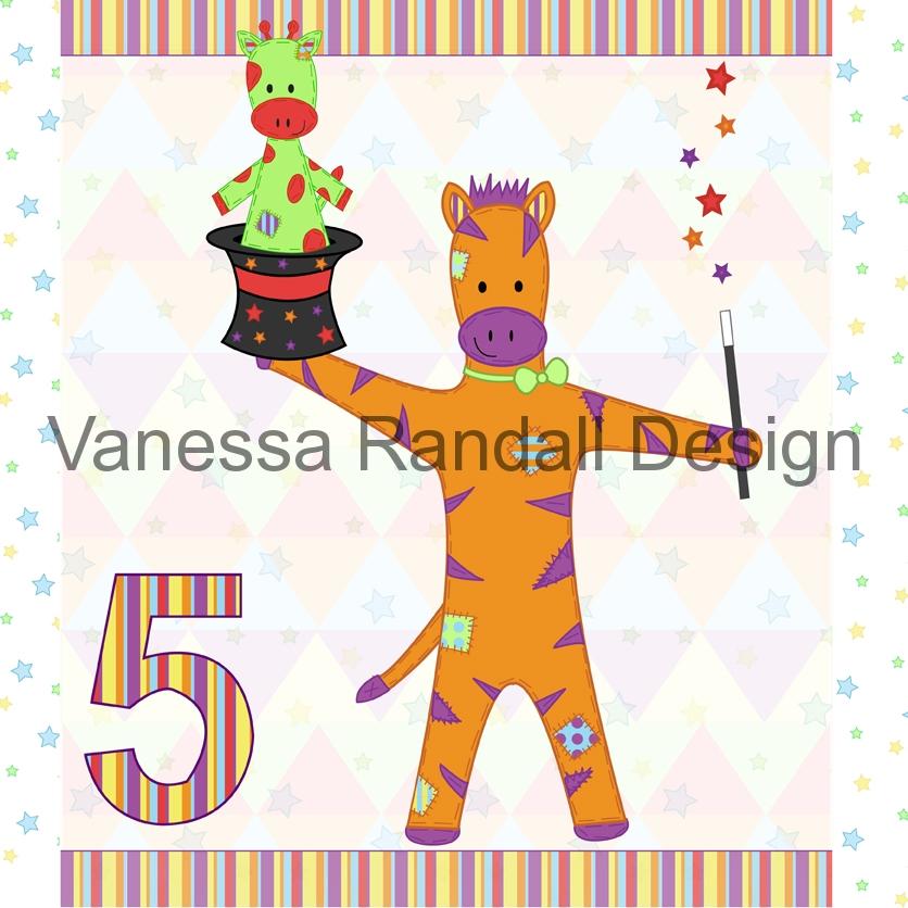 Zebra card design