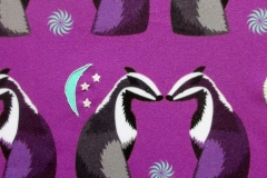 Badger curtain design embroidered with glow in the dark thread