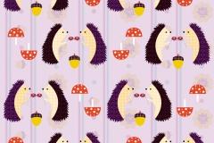 Hedgehog curtain design