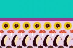 Hedgehog duvet design