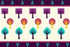 Tree border design