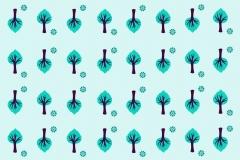 Tree wallpaper design