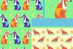 Badger bedding designs: alternative colourways